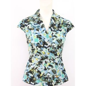 🎁Bcbgeneration Watercolor Cap Sleeves Blouse Top